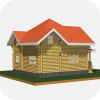 Деревянный дом из оцилиндрованного бревна МАК-Ц-125 (8х10)