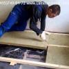 Черные полы в деревянном доме