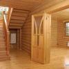 Дома из оцилиндрованного бревна лиственницы