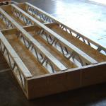 Разрез перекрытия по деревянным балкам