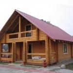 Дом из оцилиндрованного бревна своими руками