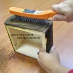 Брашировка древесины видео