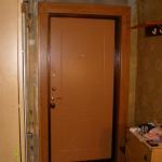 Откосы входной двери своими руками