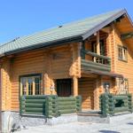 Дом из оцилиндрованного бревна 8х10