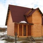 Поэтапное строительство дома из бруса фото