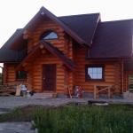 Бревенчатый дом интерьер