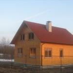 Проект дома из бруса с верандой