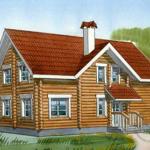 Дом из оцилиндрованного бревна внутри