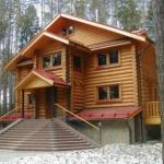Дом из оцилиндрованного бревна Иркутск