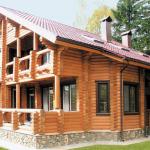 Дом из оцилиндрованного бревна 6х9