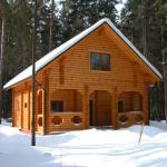 Дома оцилиндрованное бревно лиственницы