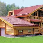 Дома из тесонного бревна