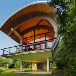 Комбинированная крыша дома железо поликарбонат