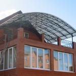 Крыши летних домиков из поликарбоната