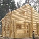 Усадка дома из оцилиндрованного бревна