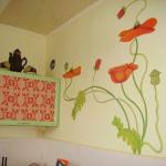 Оформление стен кухни