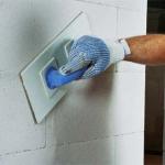 Оштукатуривание стен из газосиликата