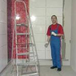Фото процесса отделки стен