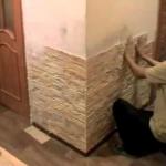 Декорирование стен камнем