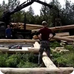 Монтаж котеджа из деревянного бруса