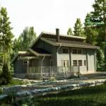 Дома из оцилиндрованного бревна 8х10