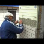 Как правильно начинать облицовку стен кирпичом?