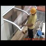 Алюминиевые планки для поликарбоната на крыше