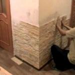 Современная отделка стен кухни