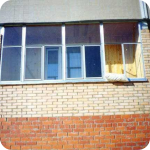 Балкон на 1 этаже