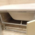 Установка ванны на кирпичи