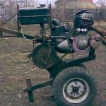 Мотокультиватор из бензопилы Урал