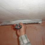 Заштукатурить потолок