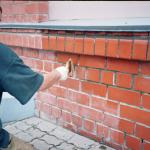 Наружная отделка кирпичных стен