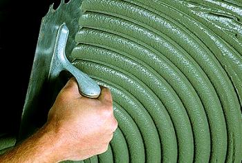 Клей для укладки плитки на гипсокартон