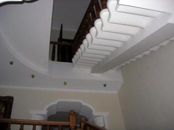 Оформление стен на лестнице фото