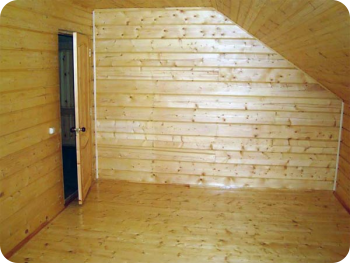 Внутренняя отделка деревянного дома Блок хаус