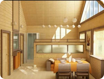Имитация бруса на потолок