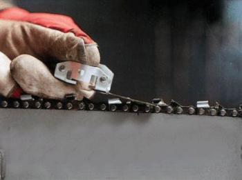 Разрешенная длина зуба цепи бензопилы