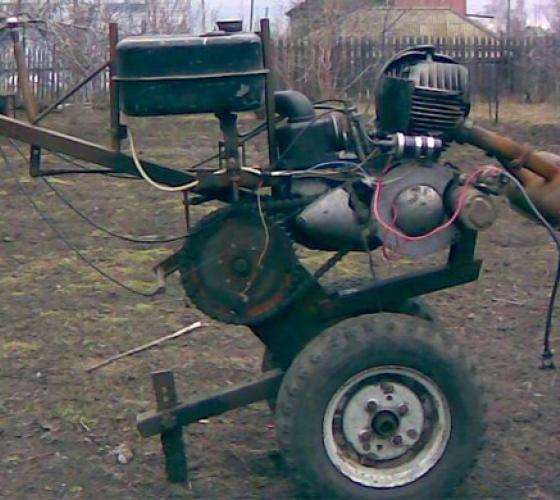 Мотоблок из бензопилы своими руками 307
