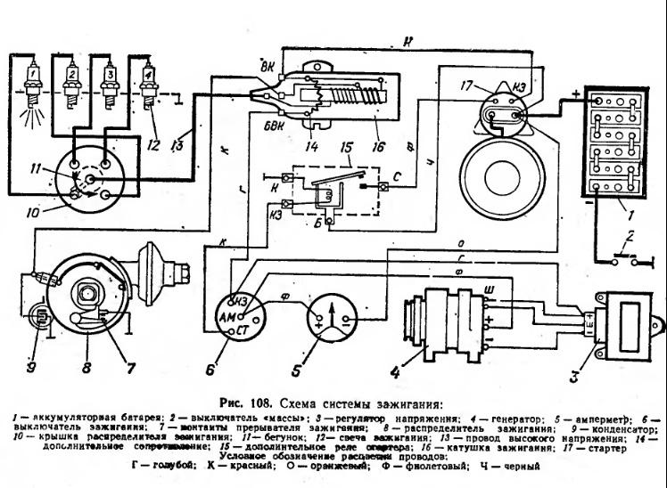 Понятная электросхема уаз 452
